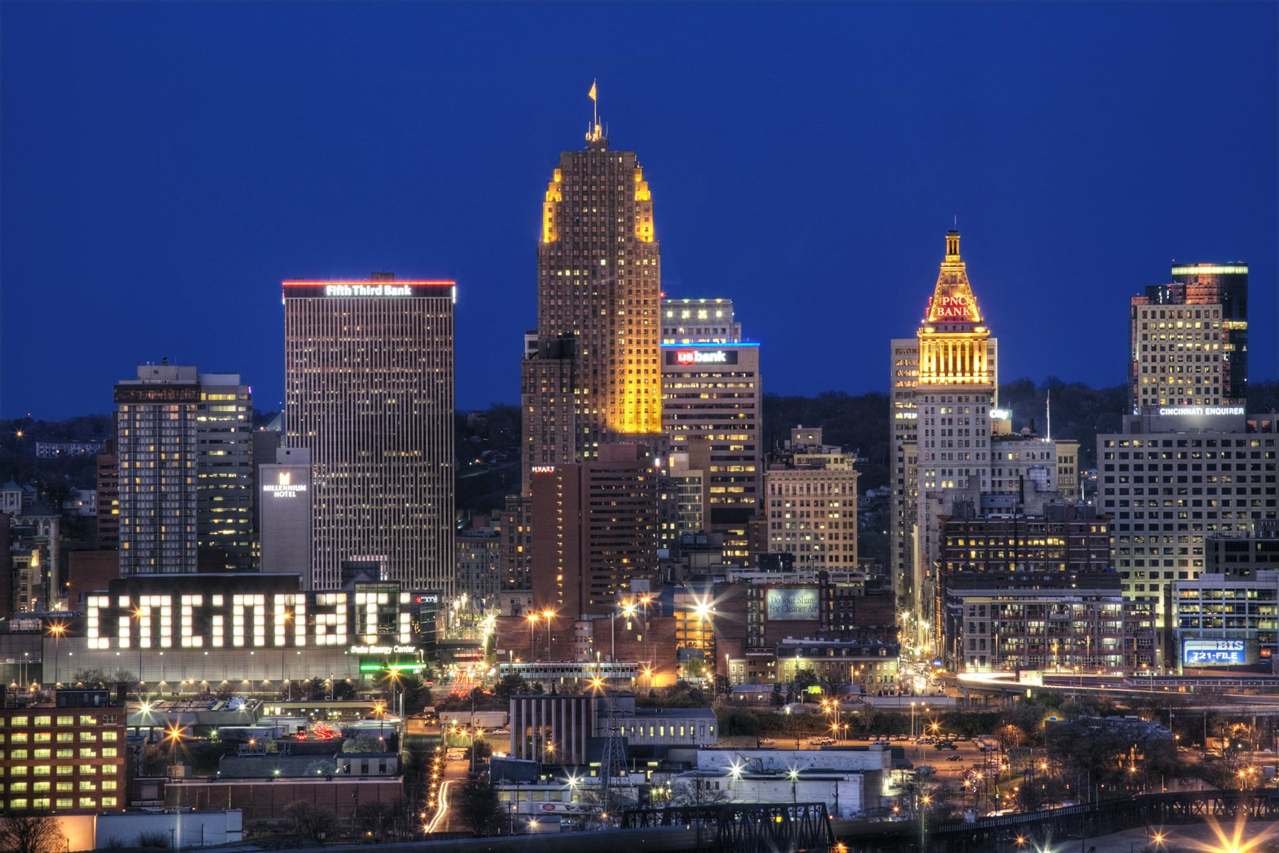 Cincinnati Landscape Night