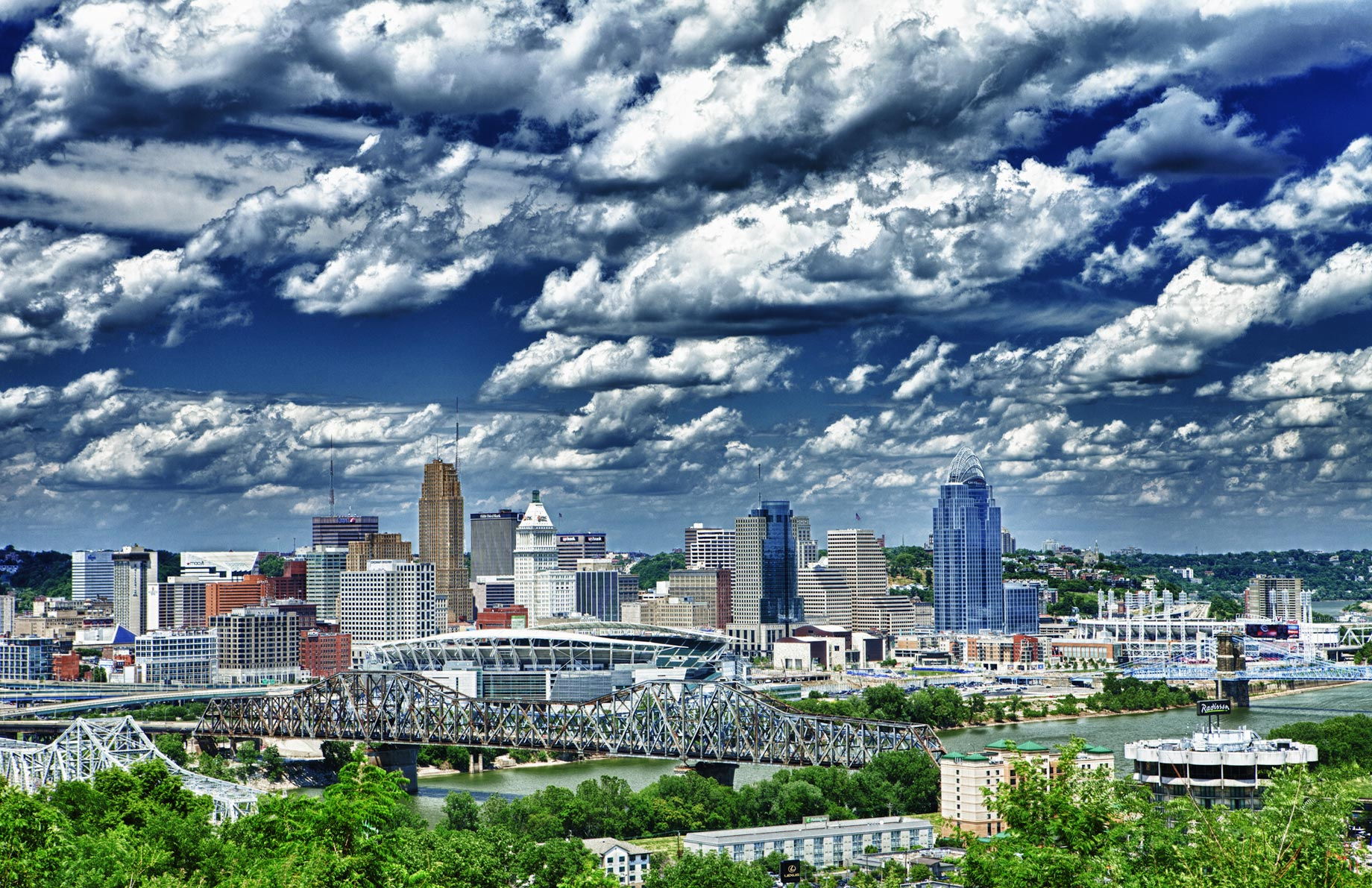Cincinnati Cityscape Art Photo