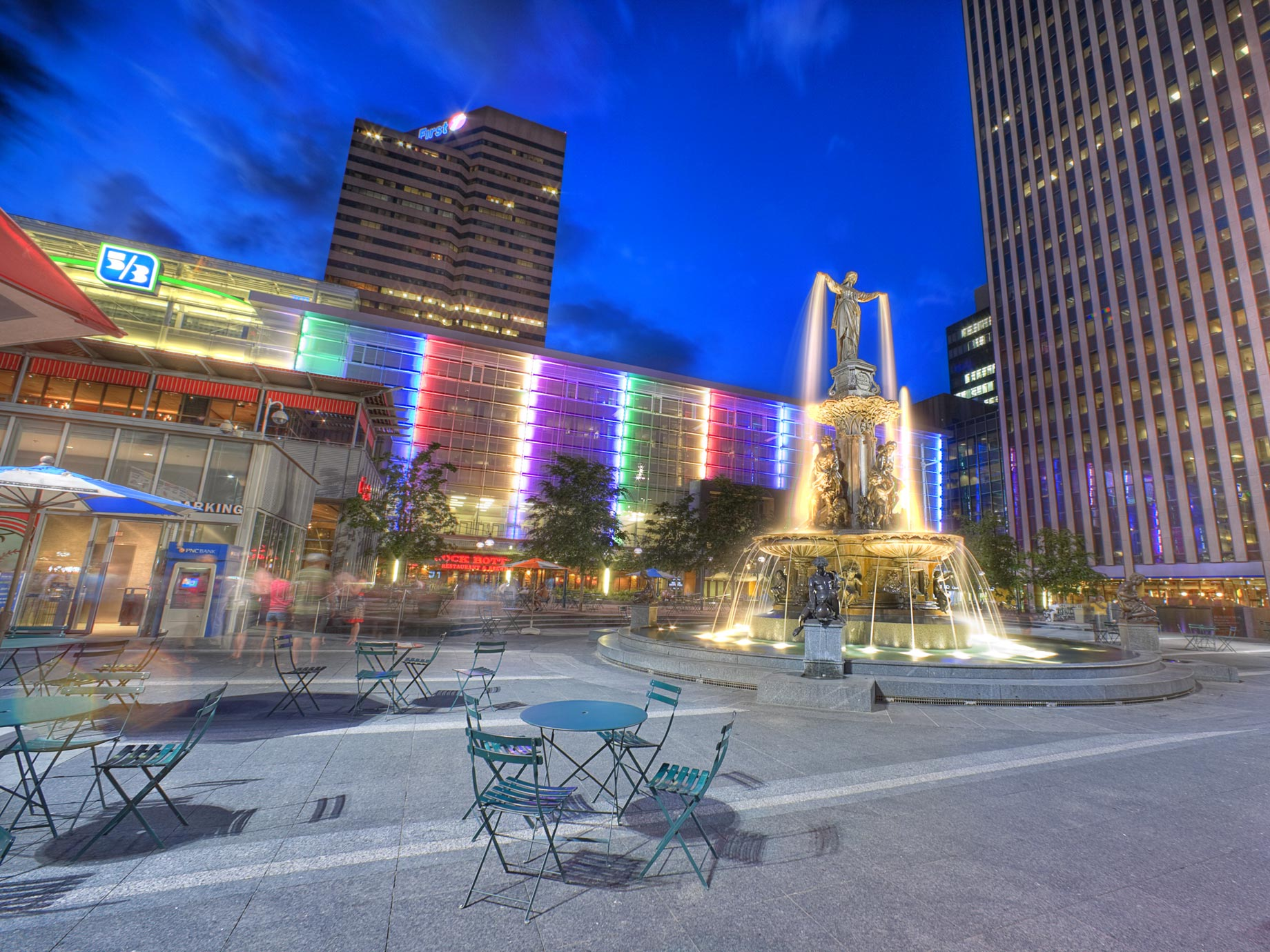 Fountain Square wide angle
