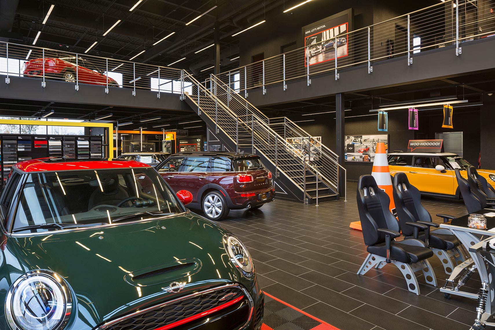 Ohio Photographer Retail Interior Architecture Mini Cooper