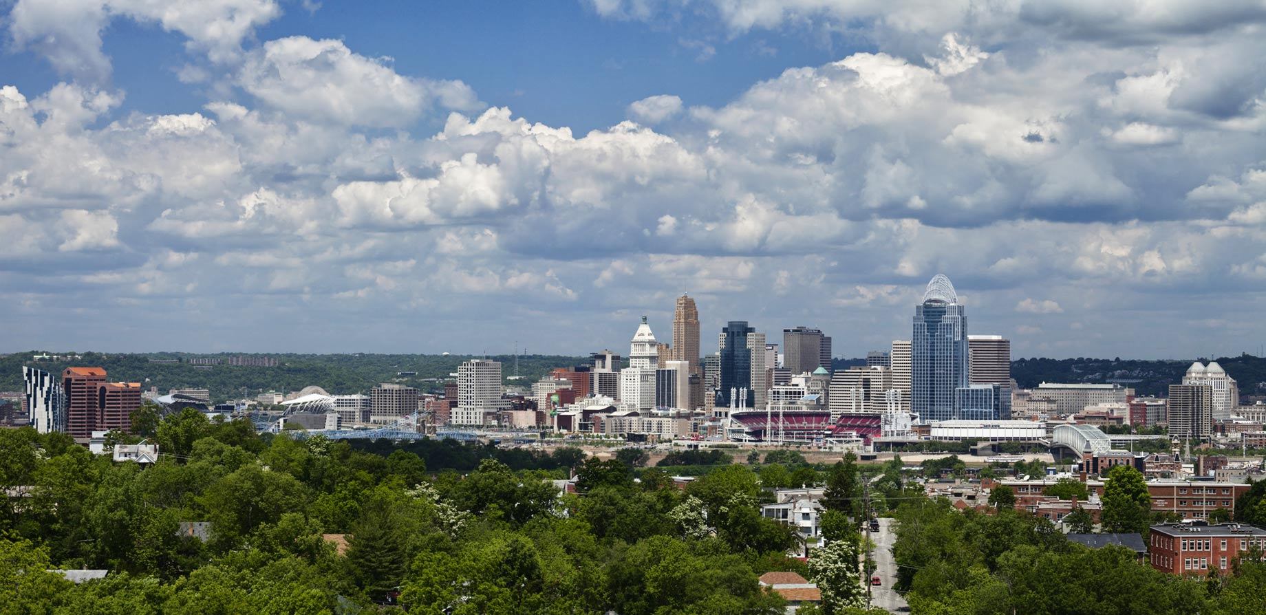 Cincinnati Skyline Landscape Photo